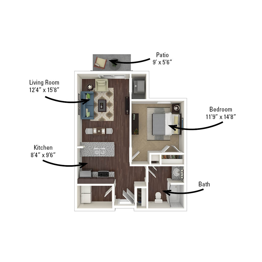 first apartment floor plan